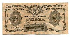 Poland (P38) 5,000,000 Marek 1923