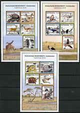Botswana 2018 MNH Kgalagadi Biodiversity 3x 5v M/S Birds Fish Turtles Stamps