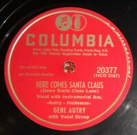 Gene Autry - Here Comes Santa Claus / An Old Fashioned Tree EE- / E- A3