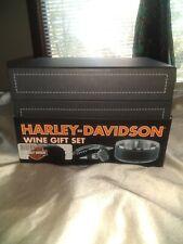 Harley Davidson 3 Piece Stainless Steel Wine Gift Set NEW W/ Gift Box!!