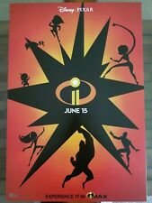 Disney Pixar Incredibles 2 Opening Night Exclusive Mini IMAX Movie Poster 2018