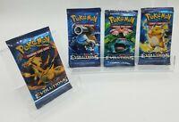 Pokemon XY Evolutions   Booster Pack Art Set   4 Sealed Packs   Charizard Art ++