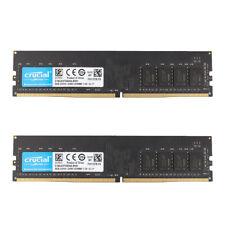 Crucial 16GB 2x 8GB DDR4 2400T PC4-19200 2400MHz 288pin UDIMM RAM Desktop Memory