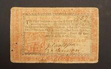 New ListingPhiladelphia April 10, 1777 Eight Shillings 8s Colonial Currency, John Dunlap