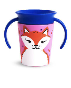 Munchkin Miracle 360 Wild love Trainer Sippy Cup Fox 6oz New with Tags