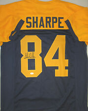Packers STERLING SHARPE Signed THROWBACK Custom Jersey AUTO - Pro Bowler - JSA