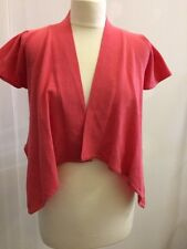 NEW South Ladies Coral Pink Bolero Shrug Short Cardigan Cap Sleeve UK Size 16