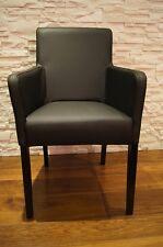 Schwarz Echt Leder Esszimmerstühle mit Armlehnen Stuhl Sessel stühle Lederstühle