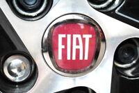 New Genuine Fiat Punto Red Logo Alloy Wheel Centre Cap - 50mm 735448759 OEM