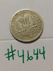 🇭🇹🇭🇹 1905 Haiti 5 Centimes Coin 🇭🇹🇭🇹