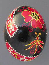 Pysanka, Real Ukrainian Easter Egg, Hen Chicken Shell, Insects, Flowers, Nk37