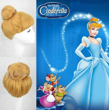 Disney Princess Cinderella Blonde Style Synthetic Anime Cosplay Party Wig