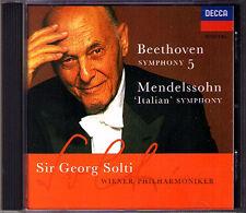 Sir Georg SOLTI: BEETHOVEN Symphony No.5 MENDELSSOHN 4 Italian CD Wiener 1996