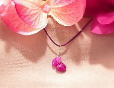 "ruby briolette necklace 16"" 41cm teardrop sapphire"