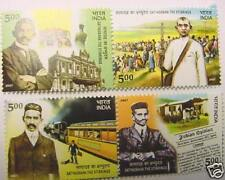-  INDIA STAMPS - 4 MINT GUM STAMPS - MAHATMA GANDHI - SATYAGRAHA: THE STIRRINGS