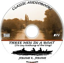 THREE MEN IN A BOAT MP3 CD A CLASSIC JEROME K JEROME AUDIO BOOK UNABRIDGED NEW