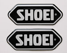 SHOEI stickers - decals - 2 x Black High Gloss Gel Finish - 75mm - Motorcycling