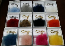 Michael Kors Fur Pom Key Charm Key Fob 6 colors in stock  BOX Pick ONE