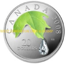 2008 $20 FINE SILVER COIN - CRYSTAL RAINDROP - QUANTITY SOLD: 13,122
