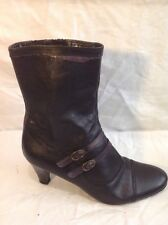 Clarks Black Mid Calf Leather Boots Size 7D