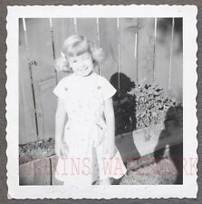 Unusual Vintage Photo Cute Girl Winking at Camera Shadow 698796