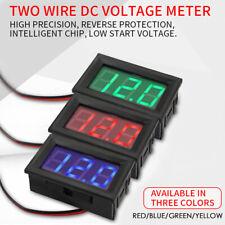 Dc 0 30v Mini Digital Voltmeter Panel Volt Current Meter Tester With Wires Led