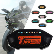 12V Universal Motorcycle Digital Gauge Speedo Tacho Odometer Gear Fuel Indicator