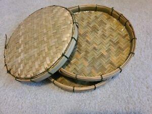 Vab- Bamboo Basket weaving/serving/fruit/decor- TheHmongMarket