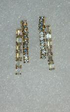 Ross Simons 18k yellow gold/sterling silver 2 row cz journey tennis Earrings