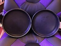 "Two (2) MIRRO Aluminum Round Cake Baking Pans 9"" X 1 1/2"" non-stick"