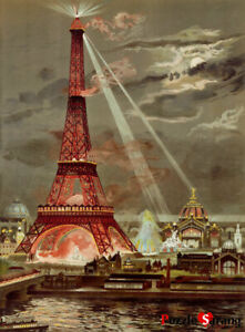 Eiffel Tower by Claude Monet Painting Art 500 Piece Jigsaw Puzzle