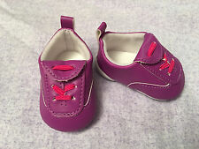 """18"""" American Girl Doll Tennis Shoes Striped Sports Athletic Sneakers Purple New"""
