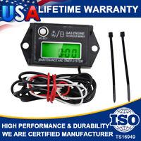 Waterproof Digital Mini Tiny Tachometer Tach Hour Meter Adjustable Job Timer US