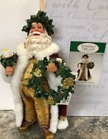 New Rare CLOTHTIQUES SANTA Possible Dreams Father Christmas Candle Wreath 2013