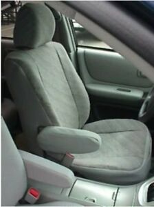 in Black for Buckets w//Arms and Adjustable Headrests 2001-2006 ShearComfort Custom Sheepskin Seat Covers for Toyota Highlander Front Seats
