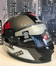 Shark Spartan Apics Motorcycle Helmet XS X-Small Black Red Anthracite
