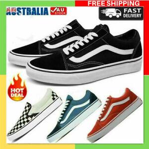 Mens Womens VAN Classic OLD SKOOL Low Top Canvas Sneakers Shoes Casual AU Stock!
