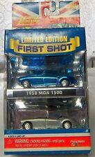 2 MGA 1500 1958 A BLUE KANDY + 1 UNPAINTED CASTING 1ST. SHOT NIP 1958 MGA 1500