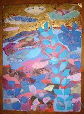 Claude Marechal collage sur papier signée art abstrait abstraction lyrique