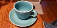 Older Mark Fiesta Aqua Cup and Saucer Set -Great Condition/Home Laughlin