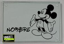 1 Vinilo de  Mickey Mouse con tu nombre personalizado no333