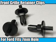 10x griglia anteriore Grill metallo timbratura Fermo Clip Per Ford 7 mm Foro in Plastica