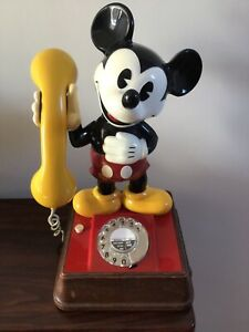 Rare Vintage Mickey Mouse Telephone