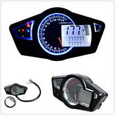 LCD Digital 15000 RPM Motorbike Speedometer Tachometer Odometer Gauge Universal