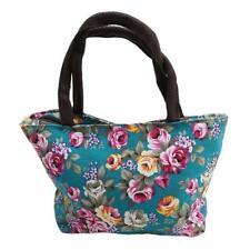 Women Girls Foral Print Canvas Shopping Handbag Shoulder Tote Shopper Bags LH