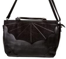 Banned Apparel Black Widow Gothic Spider Cobweb Bat Handbag LARGE