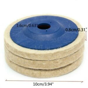 3pcs 4 100mm Wool Buffing Polishing Wheel Felt Pad Angle Grinder Buffer Disc