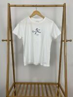 Life Is Good Women's Tennis Playing Ball Racket White T-Shirt Size S