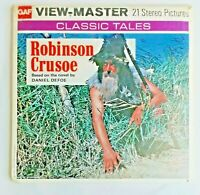1973 Robinson Crusoe Vintage Original View-Master 21 Stereo Pictures 3 Reels