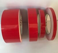 Red Gloss Coach Line | Pin Stripe Vinyl Tape 10 meters x 10mm | BOAT/CAR/BIKE